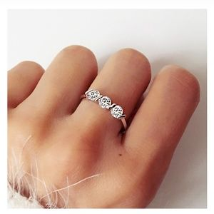 Jewelry - 18K Rose Gold Round-Cut Diamond Ring